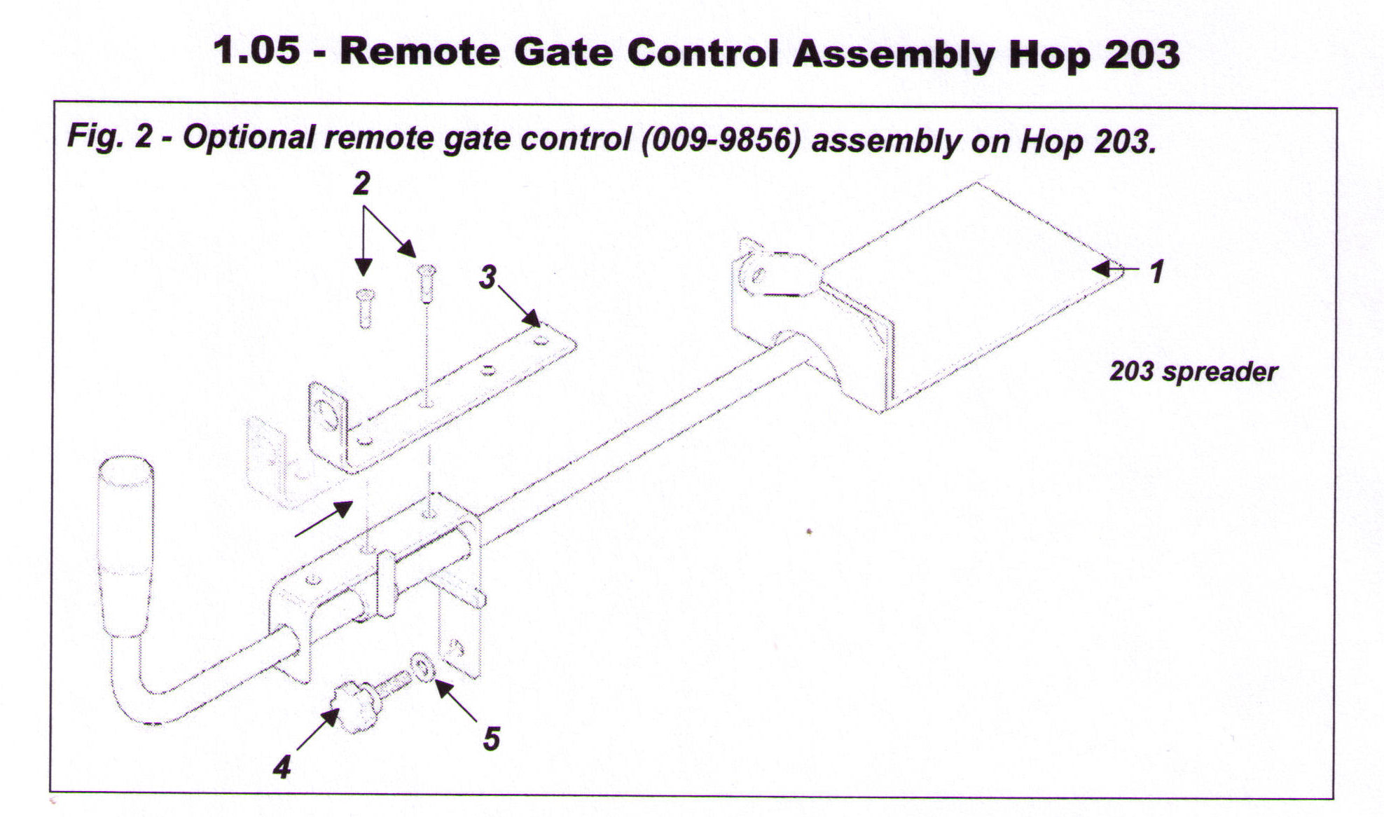 Remote Gate Control For 203-120 Hop Spreader
