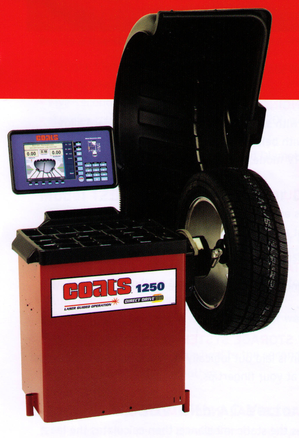 Coats 1250 Series Electronic Wheel Balancers For Car And Light Truck Wheels (Model 1250-3DV Model Shown)