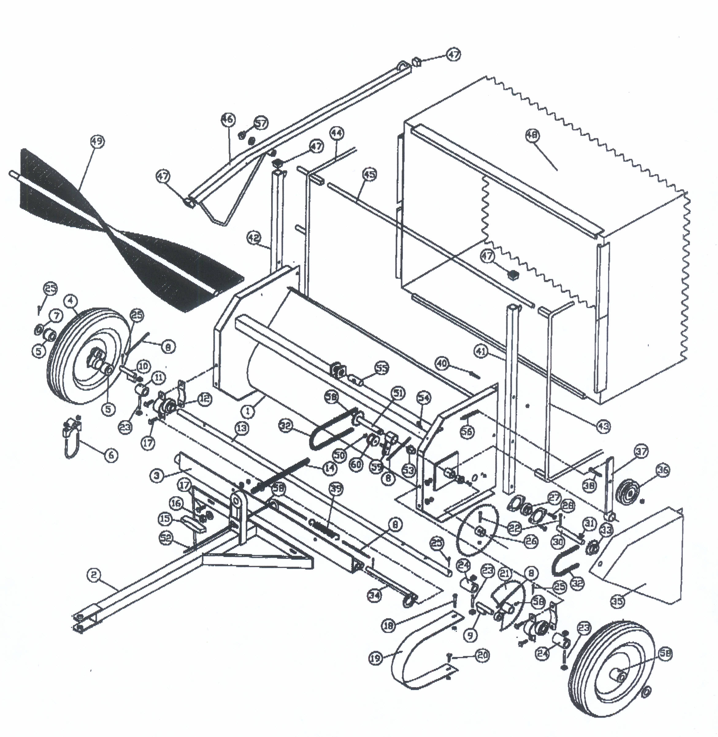 Exploded View Model 136 Estate Turf Sweeper