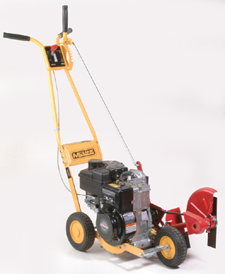 Trim-N-Edger gas powered edger/trimmer with three 7 inch wheels and a 4.75 HP Briggs And Stratton Engine