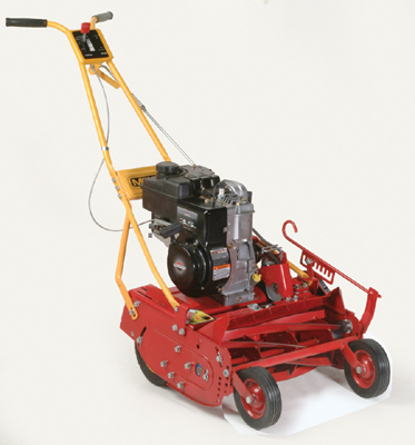 17 Inches Wide, Engine Powered Push Model With 4.75 HP Briggs And Stratton Engine, Available With Either 7 Or 10 Blade Reel