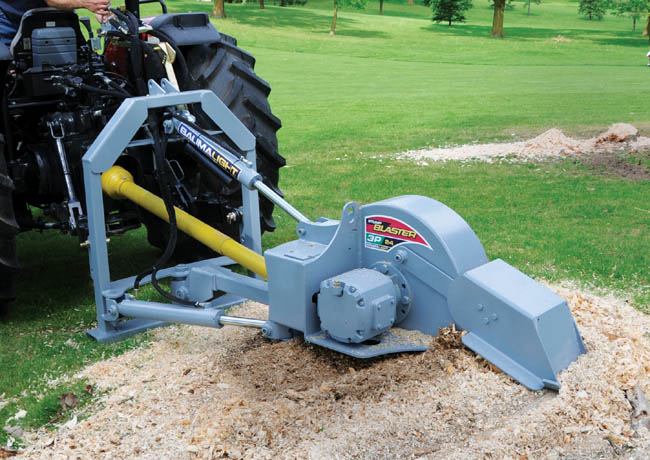 Model 3P-24 Tractor Mounted PTO Powered Stump Grinder