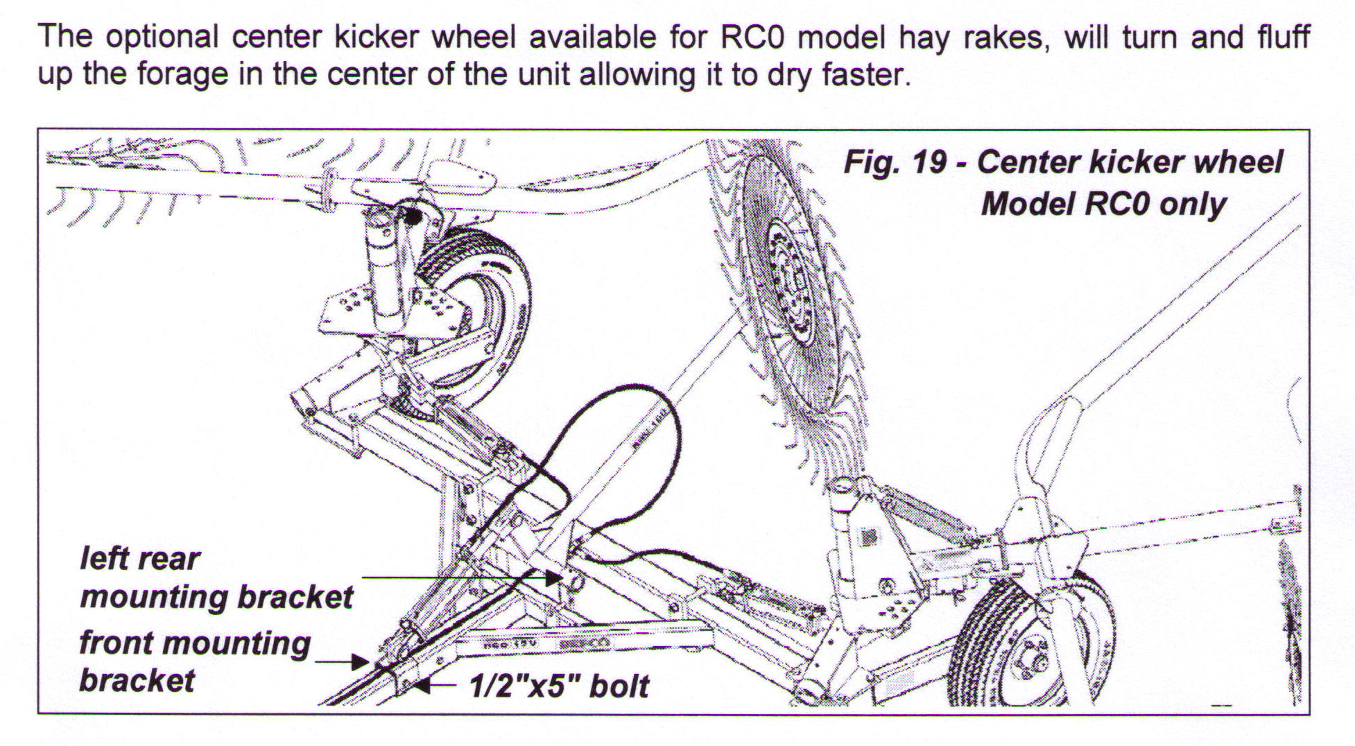 Center Kicker Wheel For RCO Models