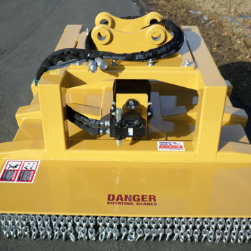 Pickup Plate Mounted On Top Of Mower Use To Attach The Boom Arm From Excavators