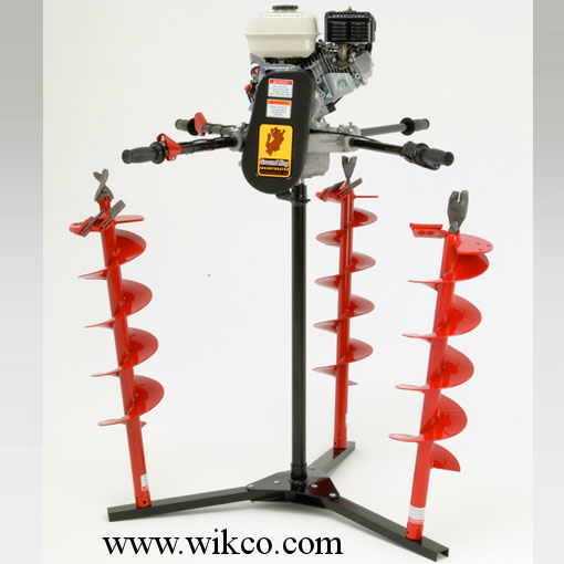 Display Stand (Photo shows display stand to hold power head when not in use, and up to 3 auger bits)