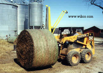 Transport Large Bales To The Feeding Location Before Cutting