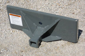 Trailer Tow Plate, Mini-Skid Steer Connection To Receiver Hitch Sleeve