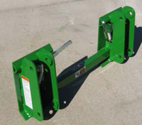 Adapter for John Deere 146, 148, and 158 Model Loaders - back side
