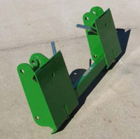 Adapter for John Deere 146, 148, and 158 Model Loaders - front side