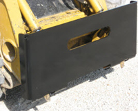 Heavy-Duty Weld-On Plate For Attachments, Connects To Skid Loaders