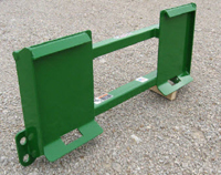 Plate Attaches To Skid Steer Loaders And Front Side Connects To John Deere 400/500 Series Attachments