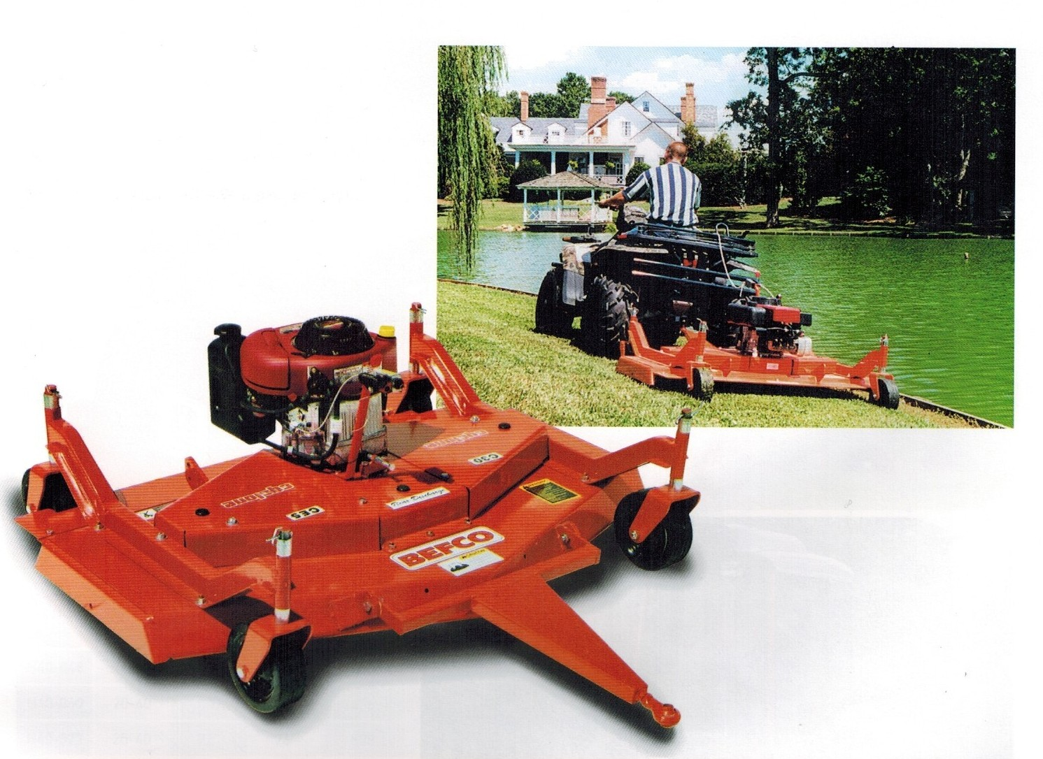 Engine Powered Tow Behind Atv Mowers