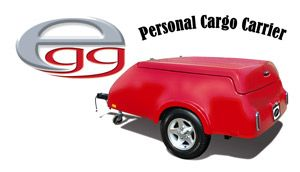Egg Cargo Trailer In Optional Red Color