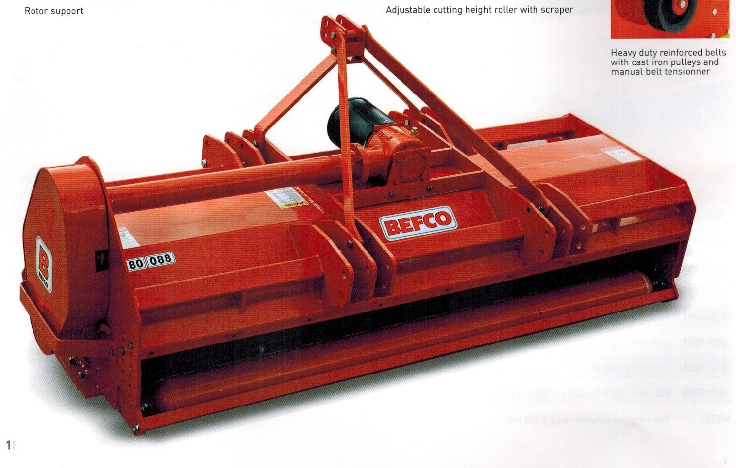 Befco H80 Series Fail Mowers