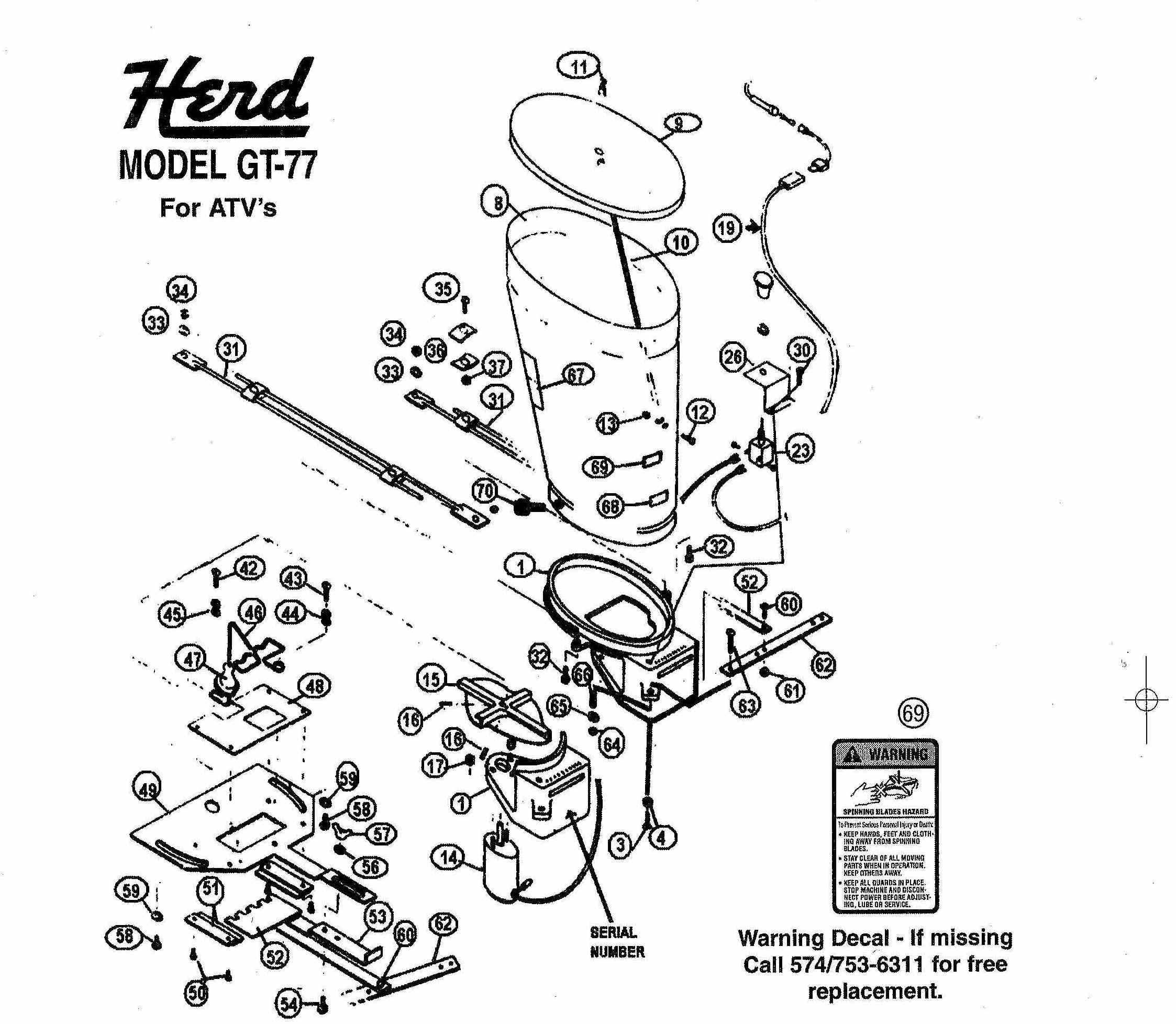 Exploded View Herd GT-77 Spreaders