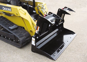 Skid Steer Mount, Low Profile Scrap Bucket