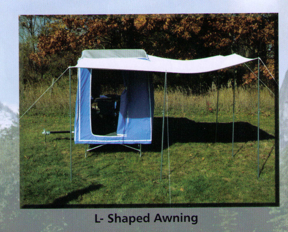 Optional L-Shaped Awning Can Be added To Campers