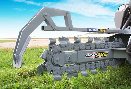 Skid Steer Mounted Chain Trencher