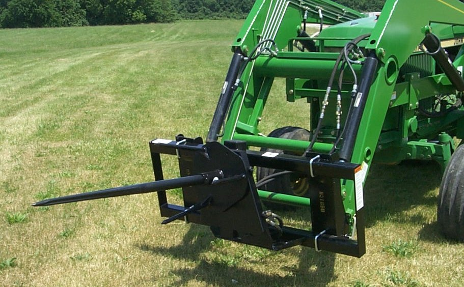 86 3 Point Bale Spike Spear Trailer Hitch
