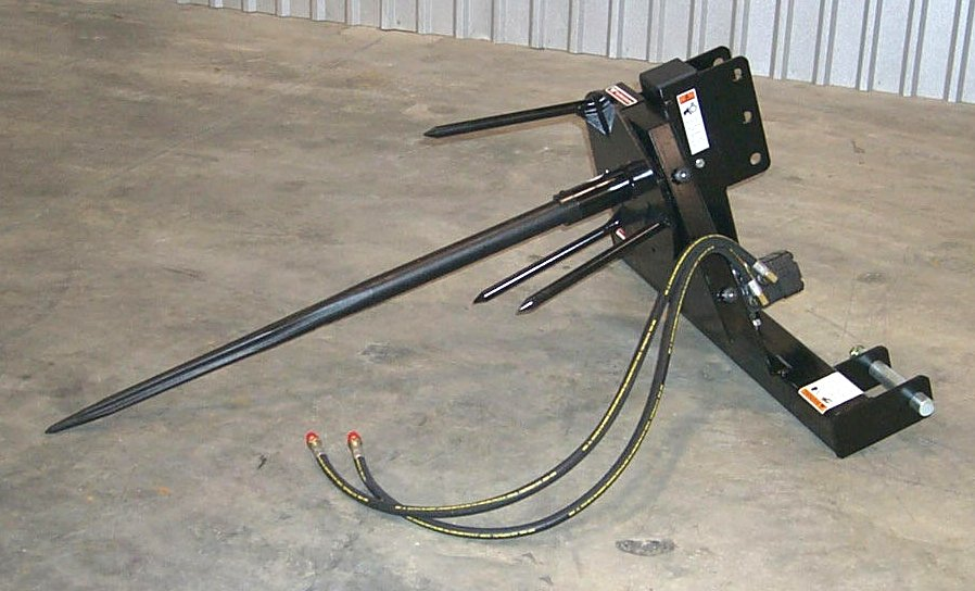 Is a hydraulic powered three point hitch mounted round bale unroller
