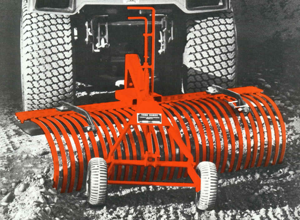 Pull Behind Rake For Lawn Tractor : Tow behind landscape rakes