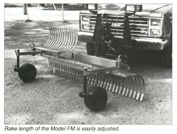 Fm Series Truck Mounted Landscape Rakes