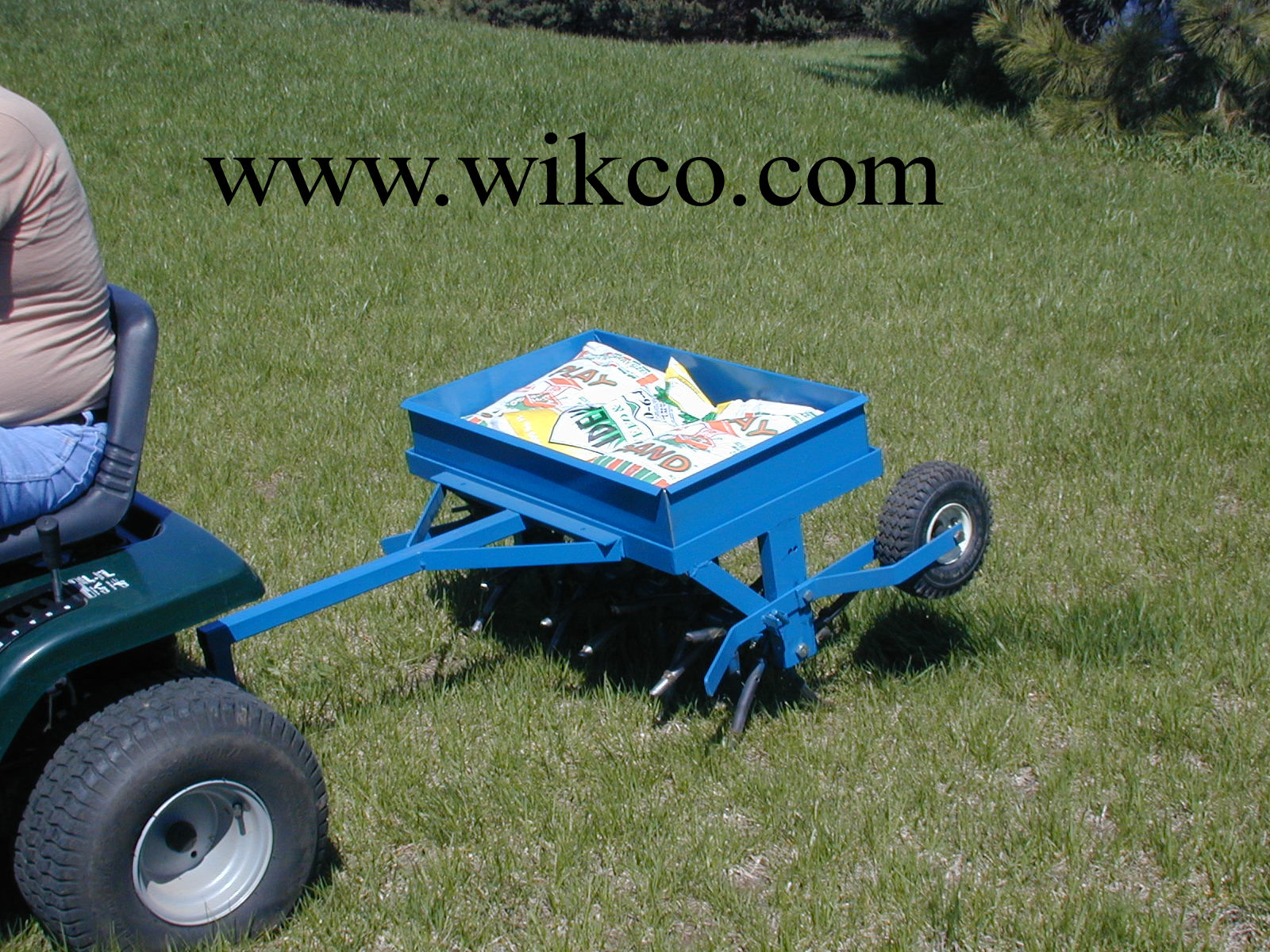 30 Inch Wide Tow Behind Aerator