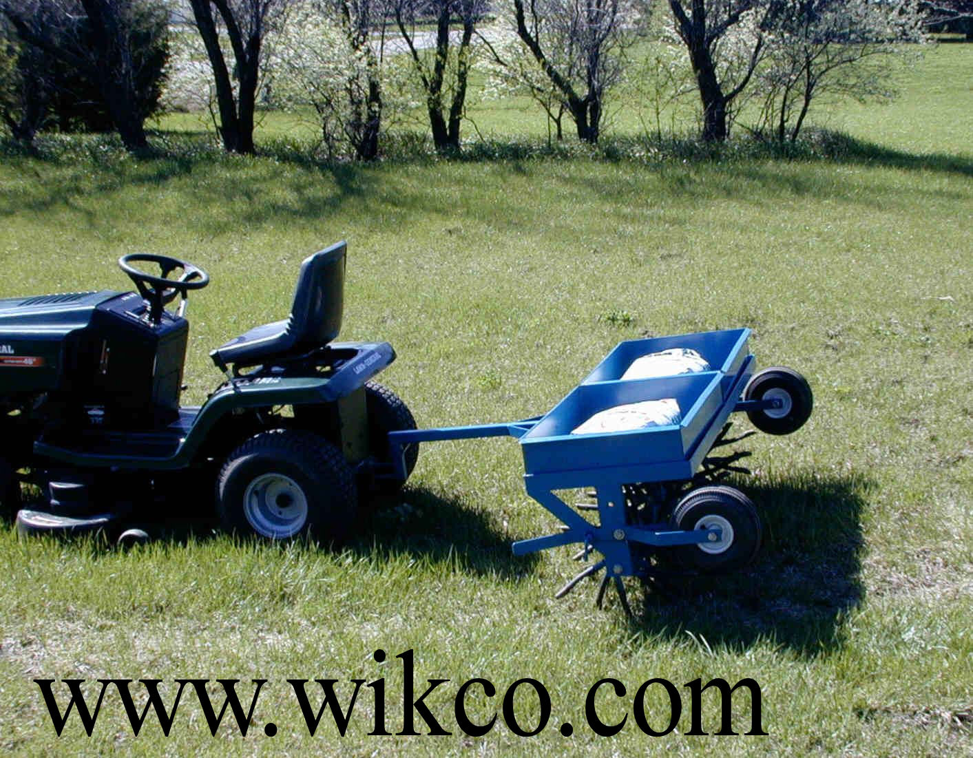 60 Inch Wide Tow Behind Aerator