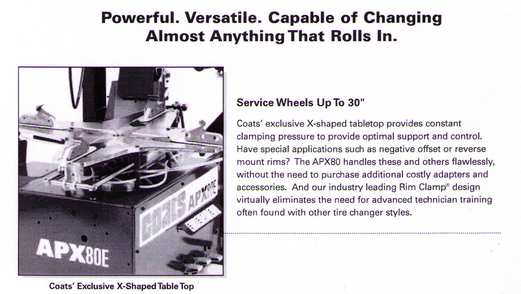 Service Wheels Up To 30 Inches In Diameter And As Small As 9 Inches