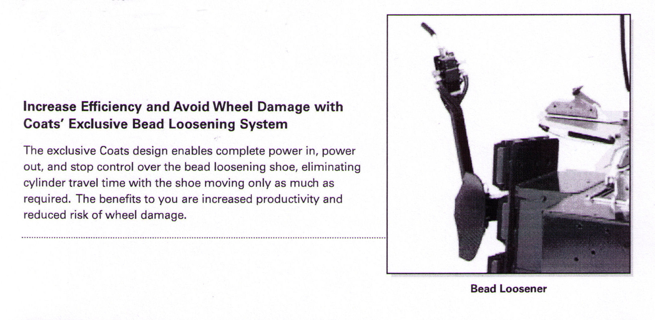Avoid Wheel Damage With Coats' Exclusive Bead Loosening System