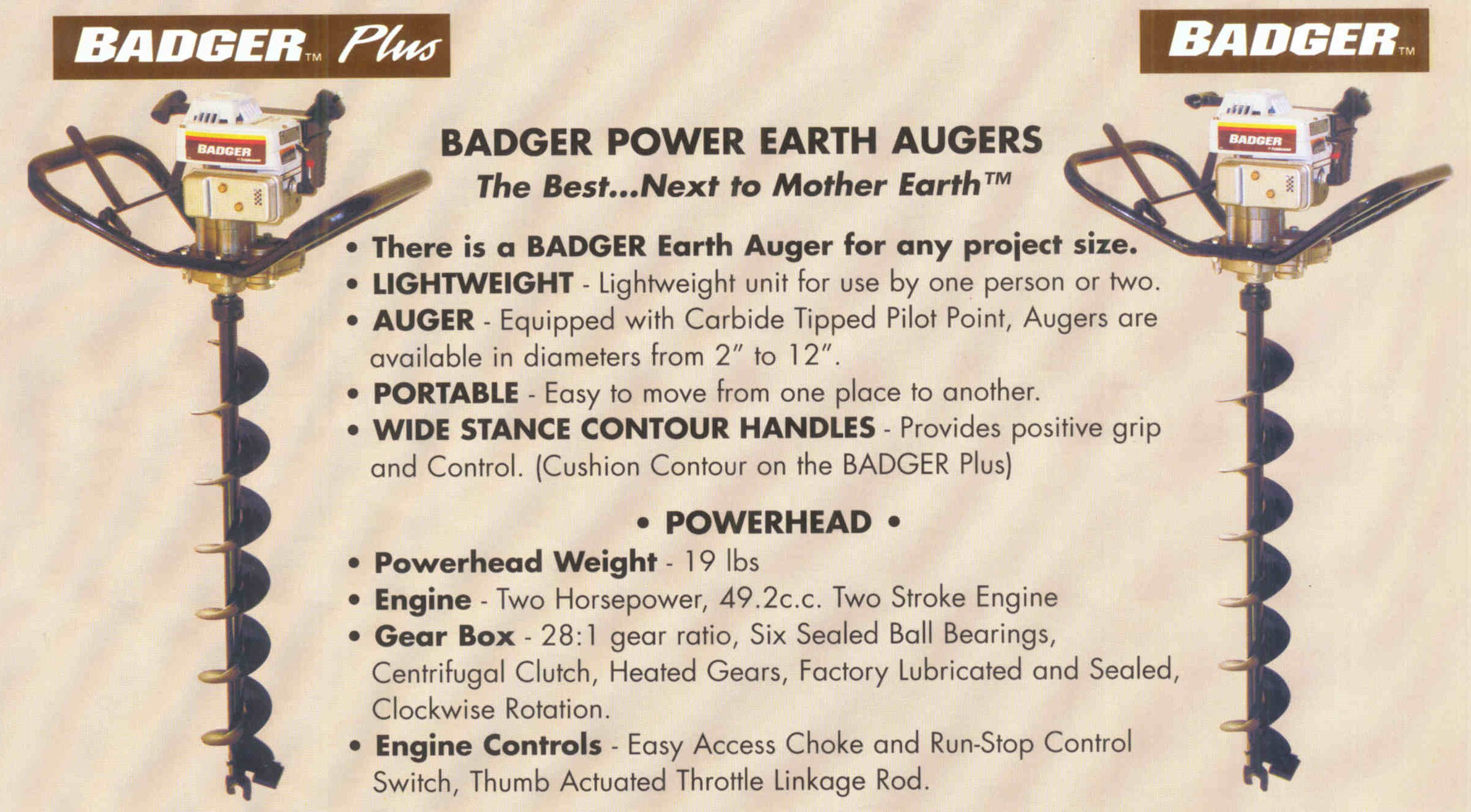 Badger One Man Earth Augers