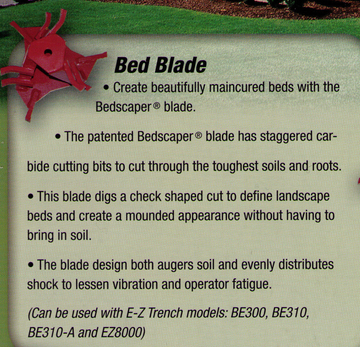 Bed Blade Bedscaper Blade