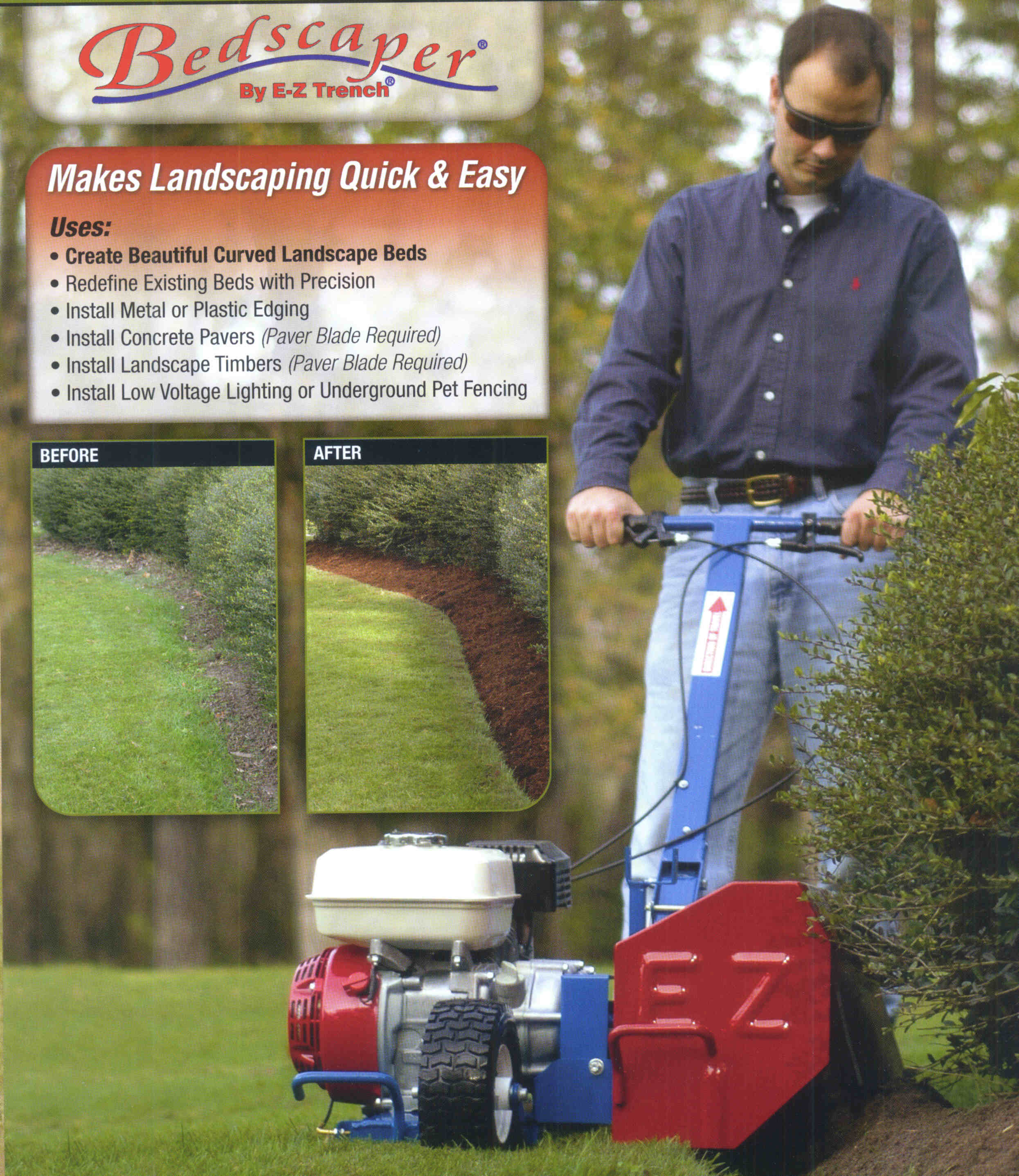 Bedscaper Landcape Bed Machine