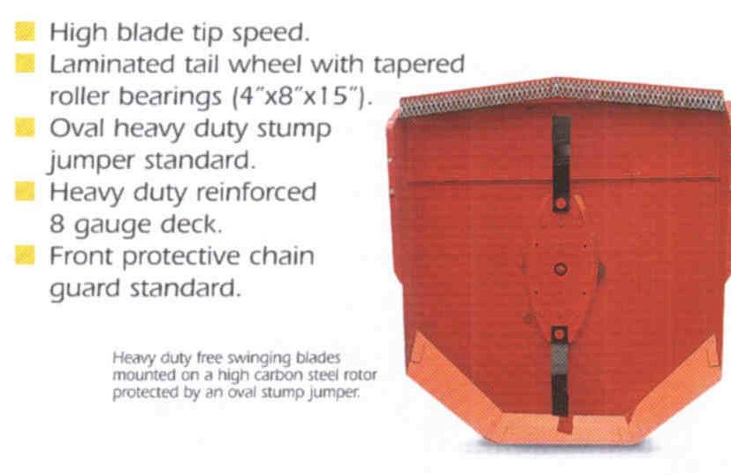Brush Mowers With Swinging Type Blades And Heavy Duty Stump Jumper Standard