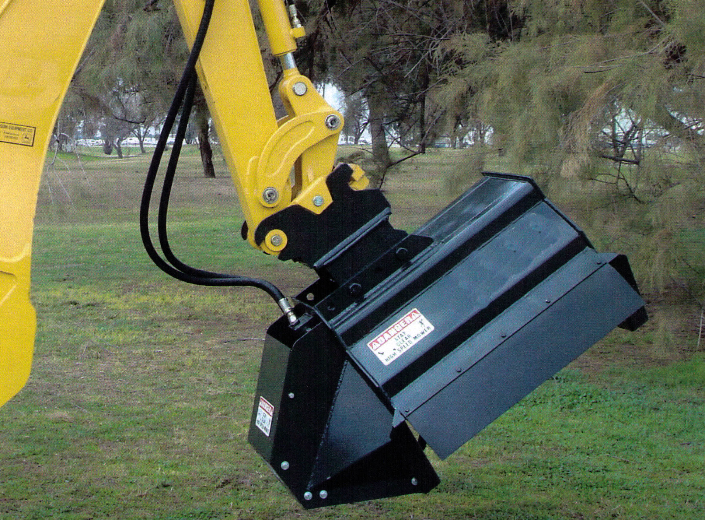 Brush hound excavator mounted brush shredder Hydraulic motor for brush cutter