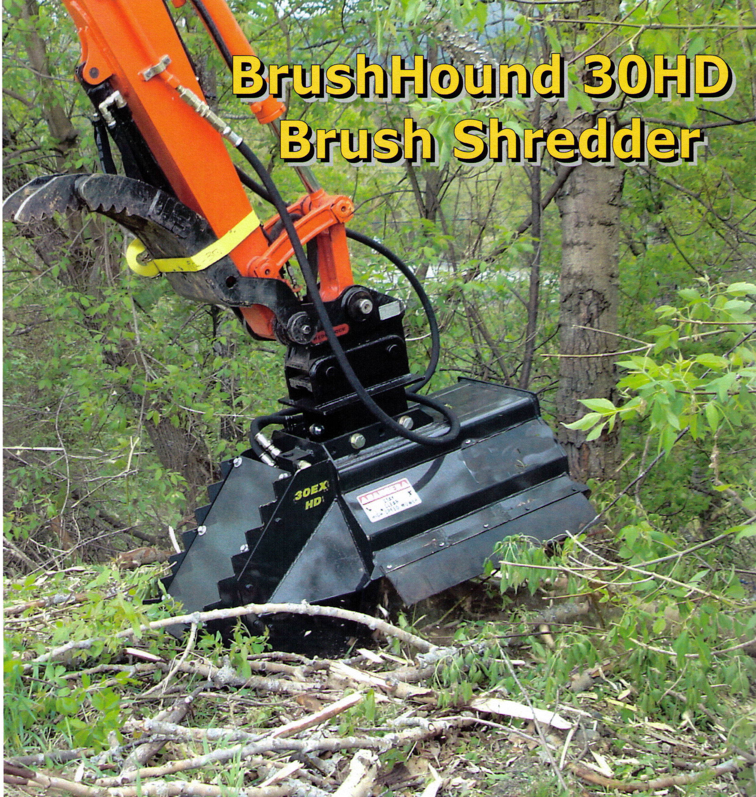 Model 30EXHD Brush Shredder For Excavators 5 Tons And Larger In Weight