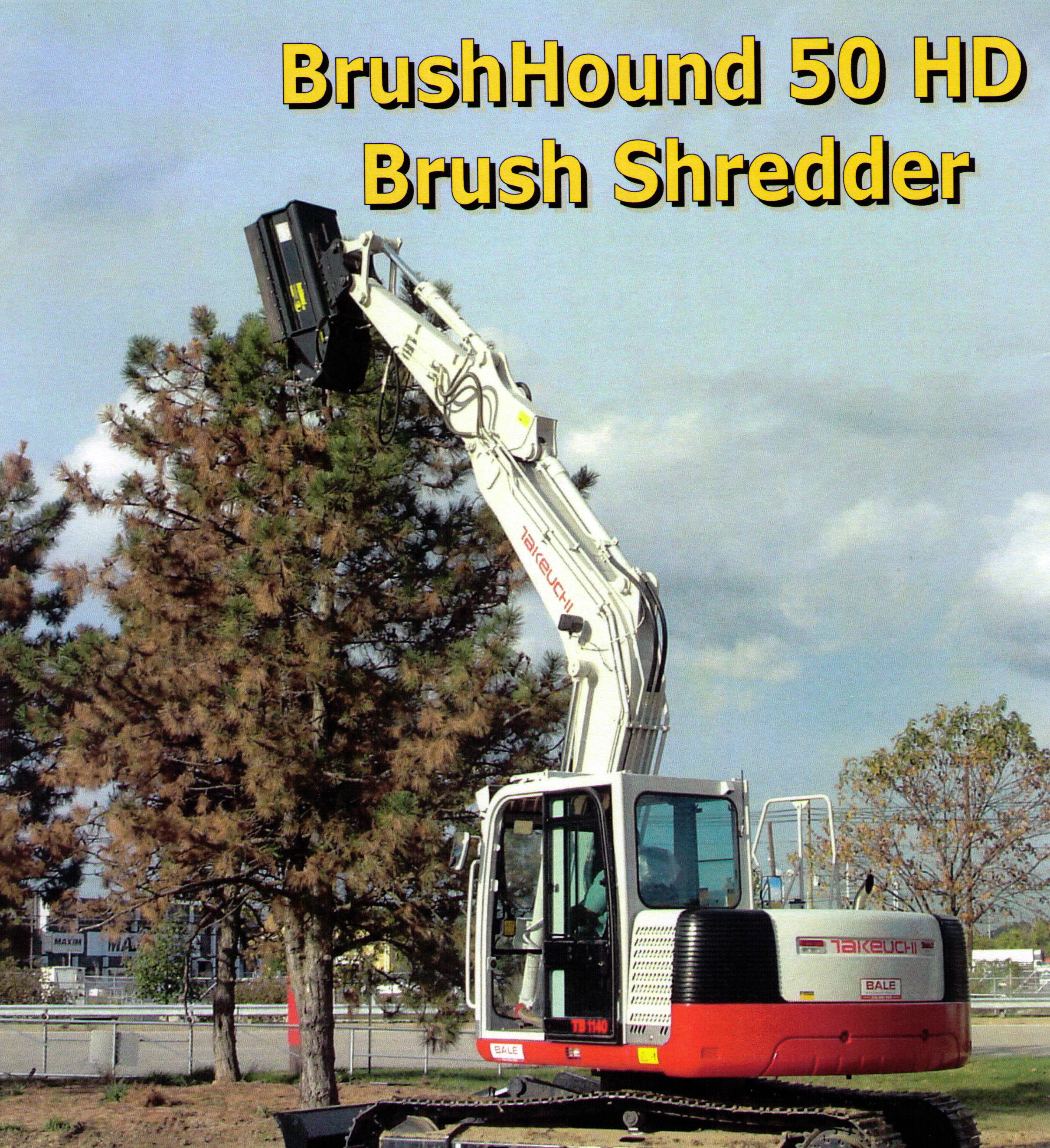 Model 50EXHD Heavy Duty Flail Blade Type Brush Shredder For 10 To 30 Ton Excavators
