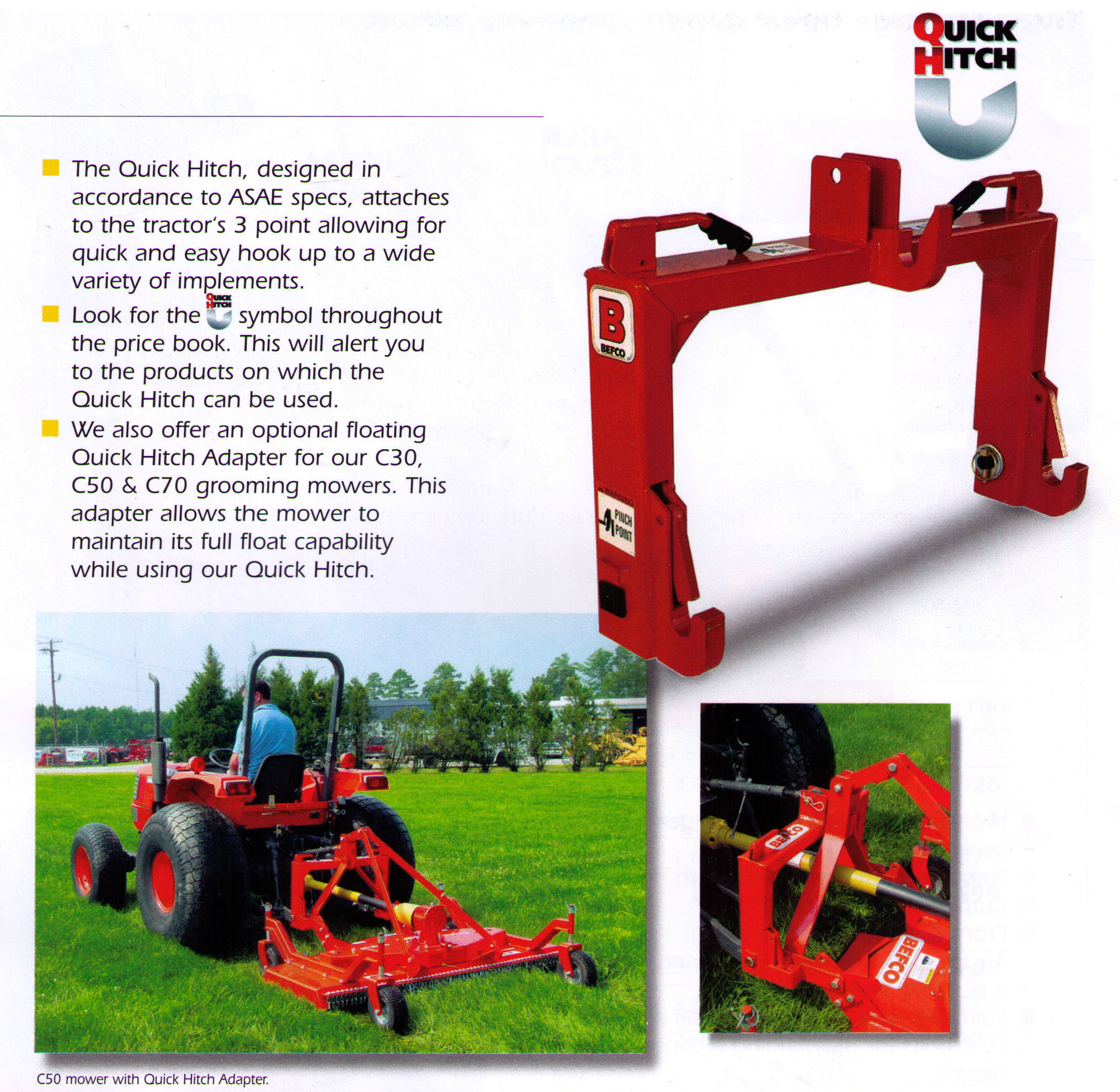 Quick Hitch Attachment For Befco And Other Brand Mowers If Quick Hitch Compatable