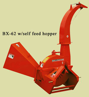 Three Point Hitch Wood Chipper With Self-Feed Hopper