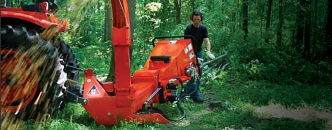 PTO Powered Three Point Mount Wood Chippers