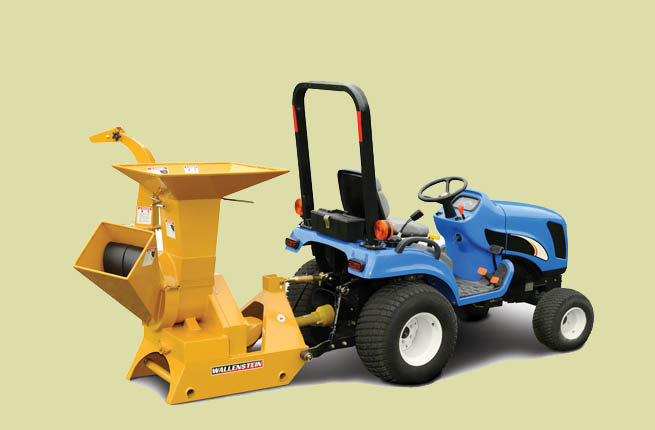 BX32 Three Point Hitch Mount Models For 12 To 30 HP Tractors - Chipper/Shredder Model Shown