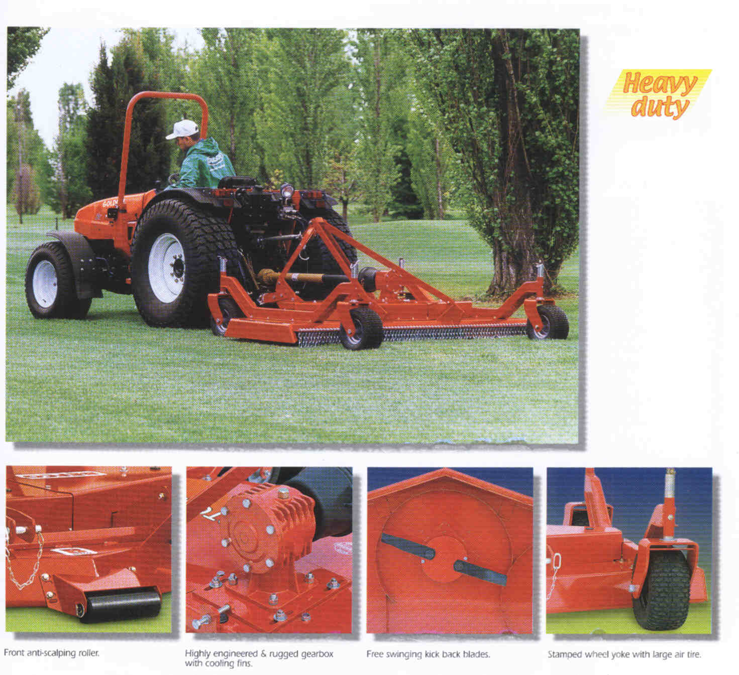 Features Cyclone C70 Mowers