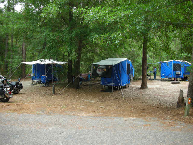 Campers Set Up In Use