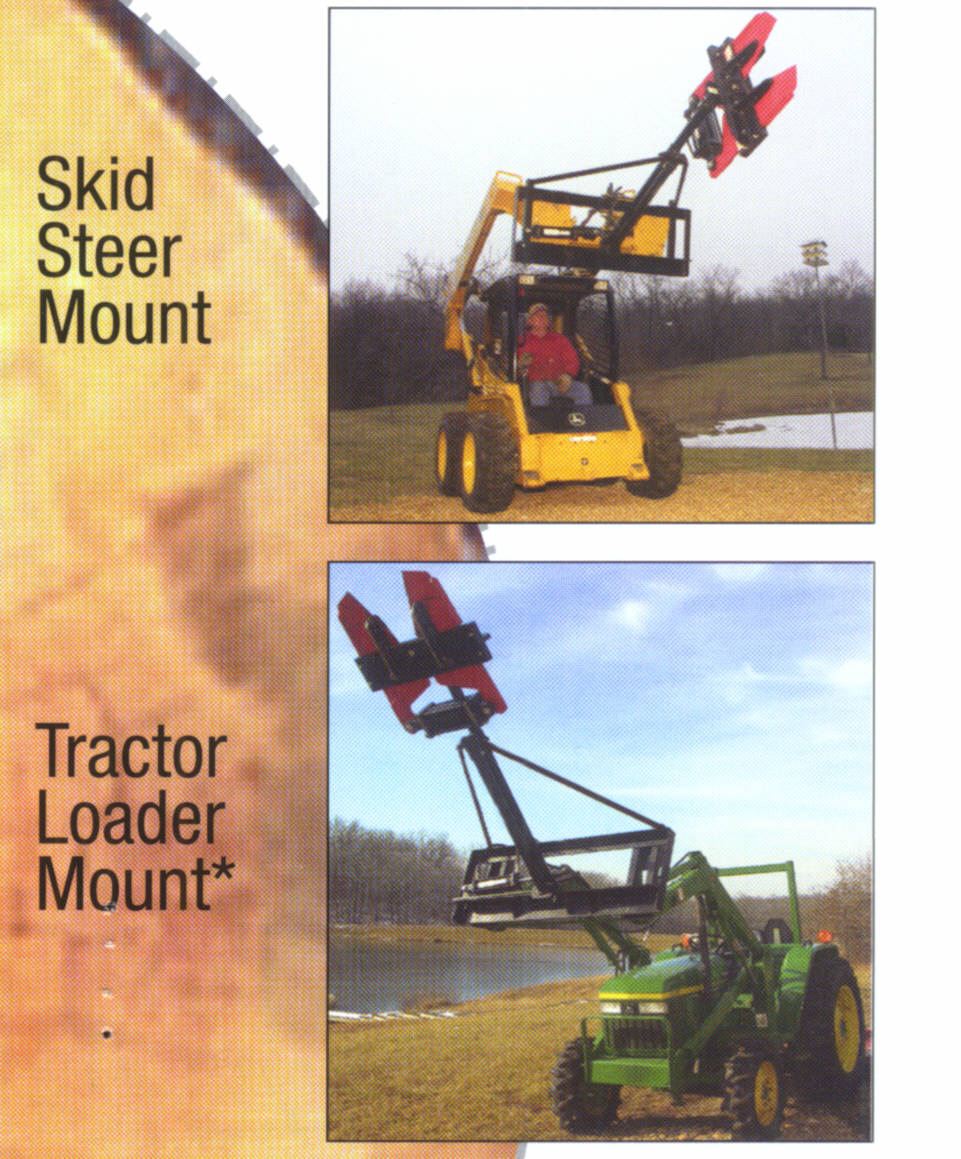 Mount With Long Boom To Skid Steers And Tractor Loaders