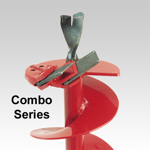 Combo Series Auger Bits For Hard Soils Available In Diameters From 6 To 12 Inches, Auger Length Is 38 Inches