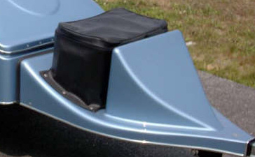 Black Naugahyde Snap-On Cooler Cover For Open Cooler Packages