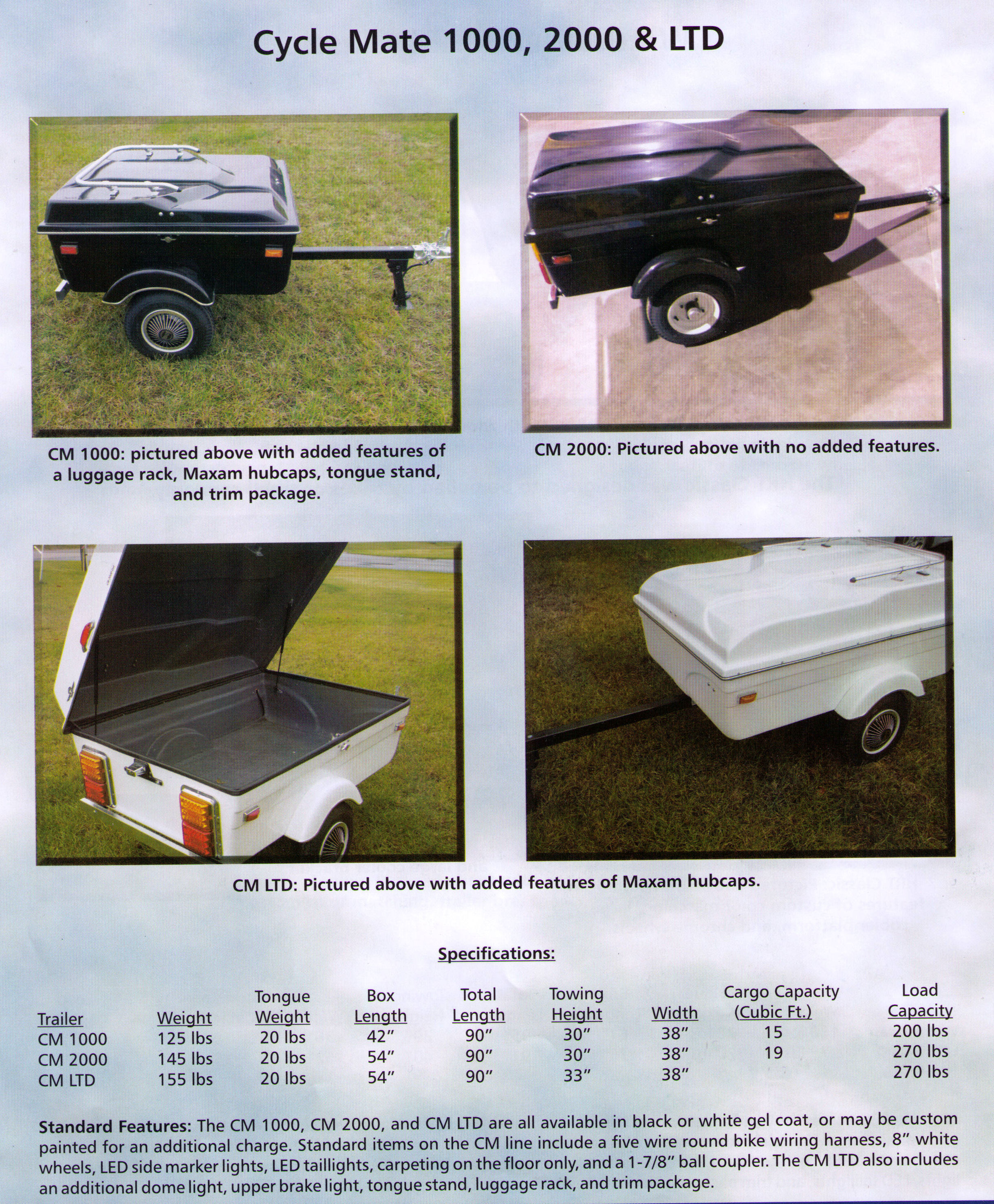 Features And Specifications Cycle Mate Trailers