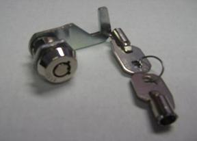 Replacement Barrel Lock For Cyclemate Trailers.  Older models use this style, if you have a newer model, with the single T-Lock, see below
