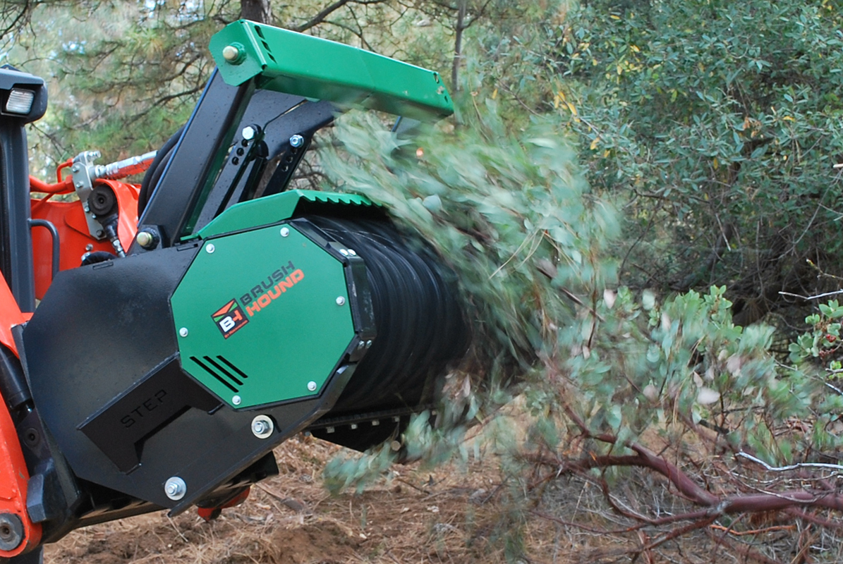 FHX Defender Skid Steer Mount Forestry Mulchers With Adjustable Push Bar