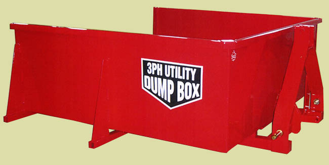 Three Point Hitch Mount Utility Dump Box
